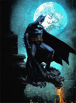 Batman Digital Art - Superman Batman Art by Egor Vysockiy