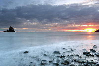 Scotland Photograph - Talisker Bay At Sunset by Maria Gaellman