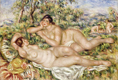 Pierre-auguste Renoir Painting - The Bathers by Pierre-Auguste Renoir