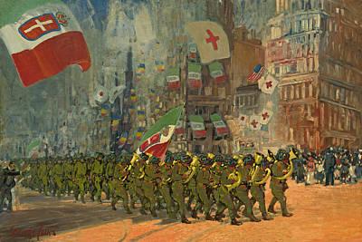 Painting - The Bersaglieri by George Benjamin Luks