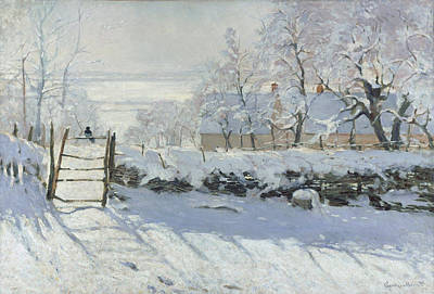 Ice Painting - The Magpie by Claude Monet
