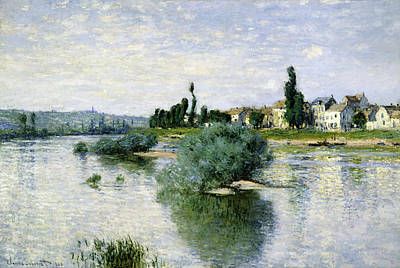 Claude Painting - The Seine At Lavacourt by Claude Monet