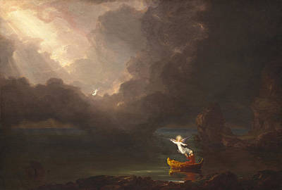 Old Age Painting - The Voyage Of Life Old Age by Thomas Cole