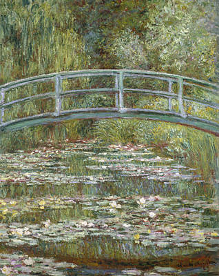 The Water Lily Pond Print by Claude Monet