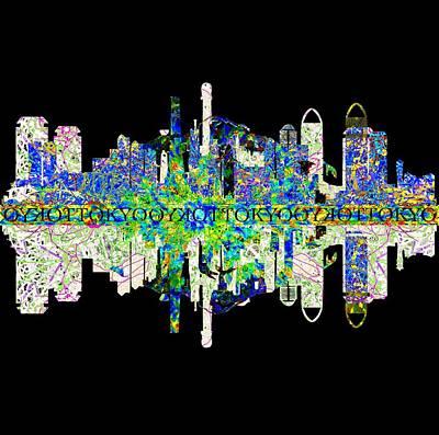 Tokyo Skyline Digital Art - Tokyo Skyline by John Groves