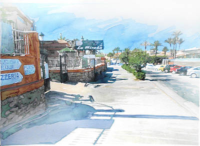 Drawing Painting - Torrevieja Street / Spain by Jani Heinonen