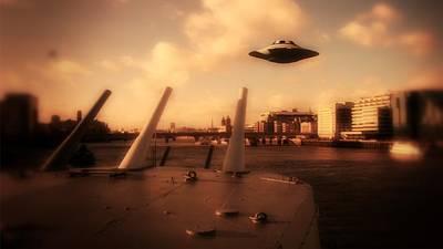 Xfiles Digital Art - Ufo Sighting by Raphael Terra