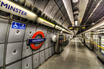 London Tube Photograph - Underground London by David Pyatt