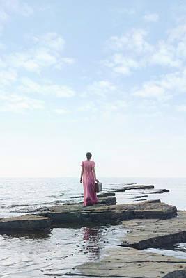 Luggage Photograph - Walking Into The Sea by Joana Kruse