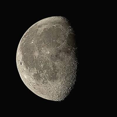 Cosmology Photograph - Waning Gibbous Moon by Eckhard Slawik