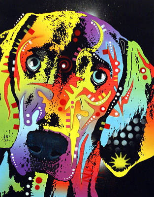 Pop Painting - Weimaraner by Dean Russo