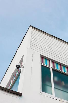 White Building Print by Tom Gowanlock