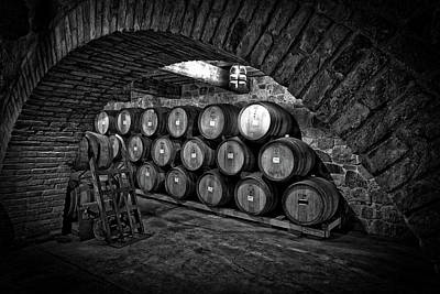 Hand Crafted Photograph - Wine Barrels by Mountain Dreams