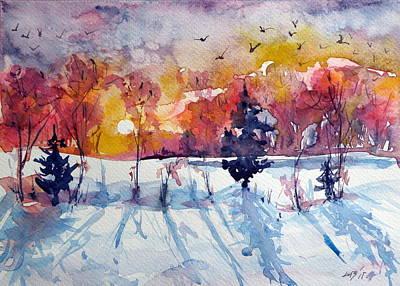 Winter Print by Kovacs Anna Brigitta