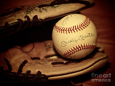 Mickey Mantle Vintage Photograph - 50 Home Run Baseball by Mark Miller