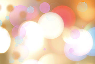 Round Digital Art - Abstract Background by Les Cunliffe