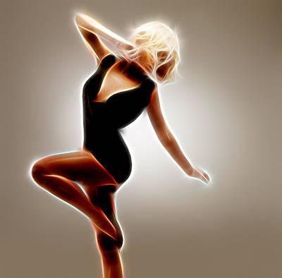 Music Digital Art - Dance The by Michael Vicin