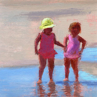 Sisters Painting - Rcnpaintings.com  by Chris N Rohrbach