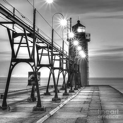 South Haven Light Print by Twenty Two North Photography