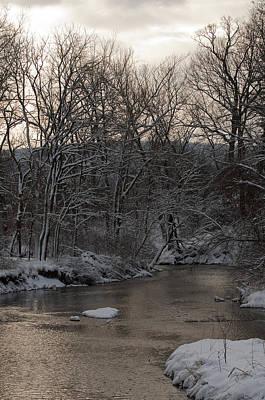 Winter In Virginia Print by Kevin Blackburn