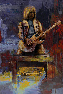 Statue Of Liberty Painting - 55 Johnny Ramone Statue  by Maryam Mughal