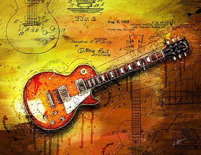 Van Halen Digital Art - 55 Sunburst by Gary Bodnar