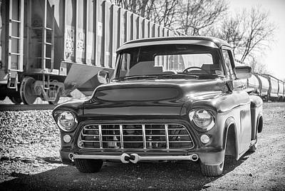 56 Chevy Pickup Photograph - 56 Chevy Truck by Guy Whiteley