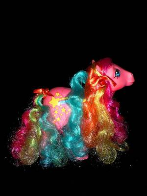 My Little Pony Stripes Rainbow Curl Second Pose Print by Donatella Muggianu