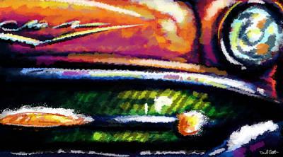 Nice Teeth Digital Art - 57 Chevy by Daniel Gilbreath