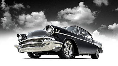 Digital Art - 57 Chevy by Douglas Pittman