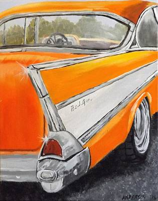 Painting - '57 Tangerine by Pamela Anderson