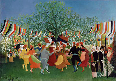 Pseudo Painting - A Centennial Of Independence by Henri Rousseau