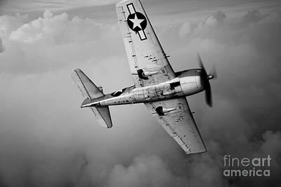 A Grumman F6f Hellcat Fighter Plane Print by Scott Germain