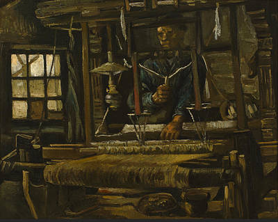 Male Painting - A Weaver's Cottage by Vincent van Gogh