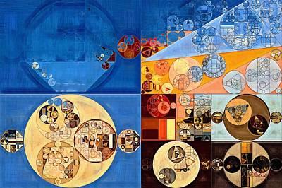 Abstract Painting - Lapis Lazuli Print by Vitaliy Gladkiy