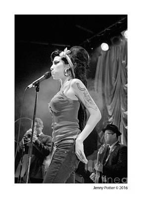 Music Artist Photograph - Amy Winehouse by Jenny Potter