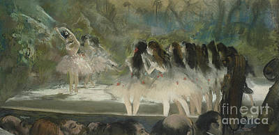 Troupe Pastel - Ballet At The Paris Opera by Edgar Degas