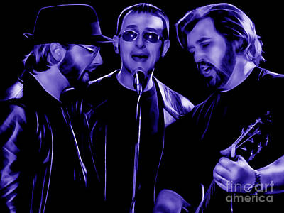 Music Mixed Media - Bee Gees Collection by Marvin Blaine