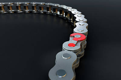 Bicycle Chain Missing Link Print by Allan Swart