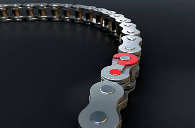 Mystifying Digital Art - Bicycle Chain Missing Link by Allan Swart