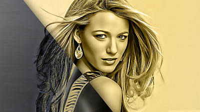 Celebrities Mixed Media - Blake Lively Collection by Marvin Blaine