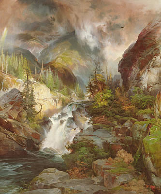 Mist Painting - Children Of The Mountain by Thomas Moran