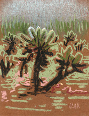 Cholla Drawing - Cholla by Donald Maier