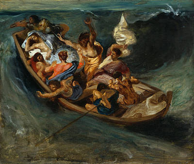 Miraculous Painting - Christ On The Sea Of Galilee by Eugene Delacroix