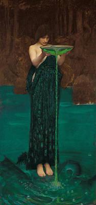 Enchantress Painting - Circe Invidiosa by John William Waterhouse