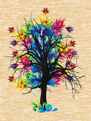 Color Tree Collection Print by Marvin Blaine