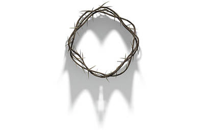 Royalty Digital Art - Crown Of Thorns With Royal Shadow by Allan Swart