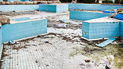 Derelict Swimming Pool Print by Tom Gowanlock