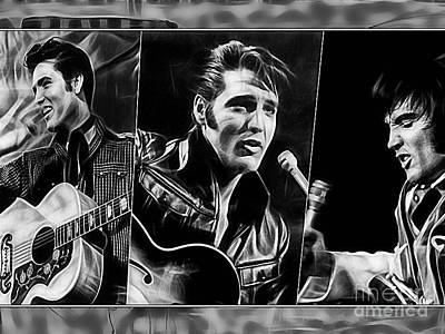 Elvis Presley Mixed Media - Elvis by Marvin Blaine