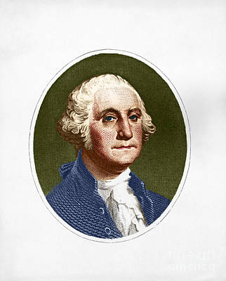 1732 Photograph - George Washington, 1st American by Photo Researchers